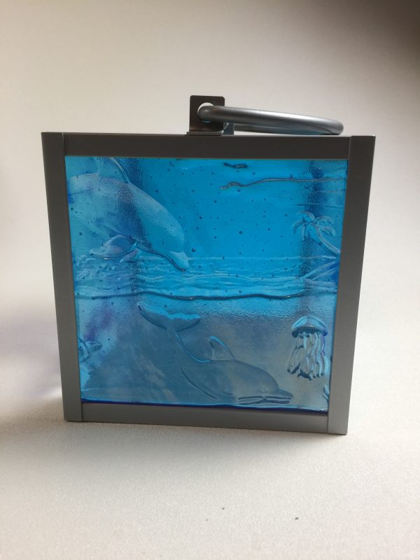 Another type of fused glass lantern