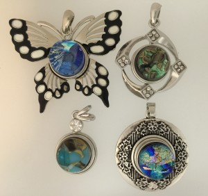 18mm Fused Glass Snap Pendant Findings