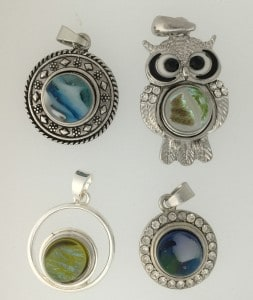 12mm fused glass snap pendant findings