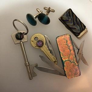 Fused glass male accessories
