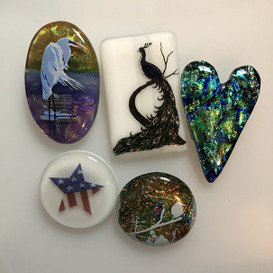 Fused Glass Broochesk & Pins