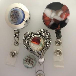 Fused Glass Badge holders