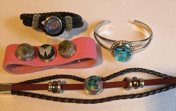 Fused Glass Link bracelets