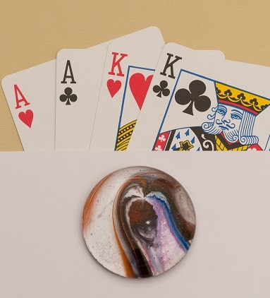 Fused Glass Poker Guards