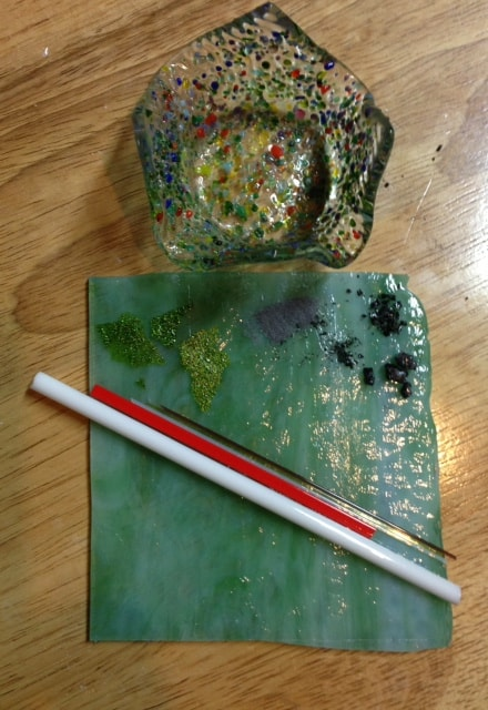 Fused Glass Pebble Pendants