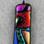 Fused Glass Picasso Technique.