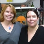 Tanya and me at my first fused glass bootcamp