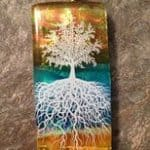 5-6 layered fused glass Tree of Life Decal