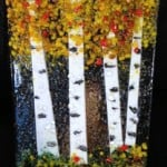 Fused Glass Fall Aspen Panel