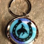 Horse Fused Glass Keychain
