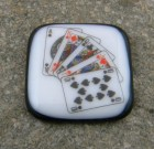Fused Glass Poker Guard – High Straight