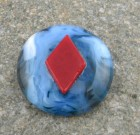 Fused Glass Poker Guard – Diamond
