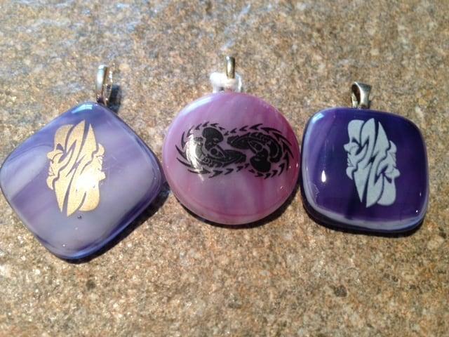 Fused Glass Gemini (Zodiac) pendants