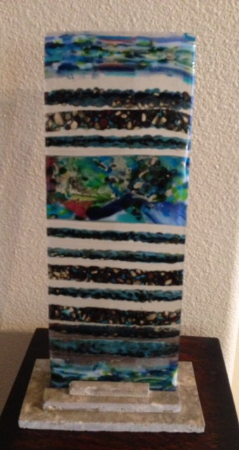 April's Fresh From The Kiln - Fused Glass Tree-man