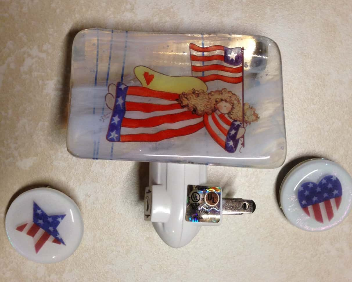 Patriotic Fused Glass for Memorial Day