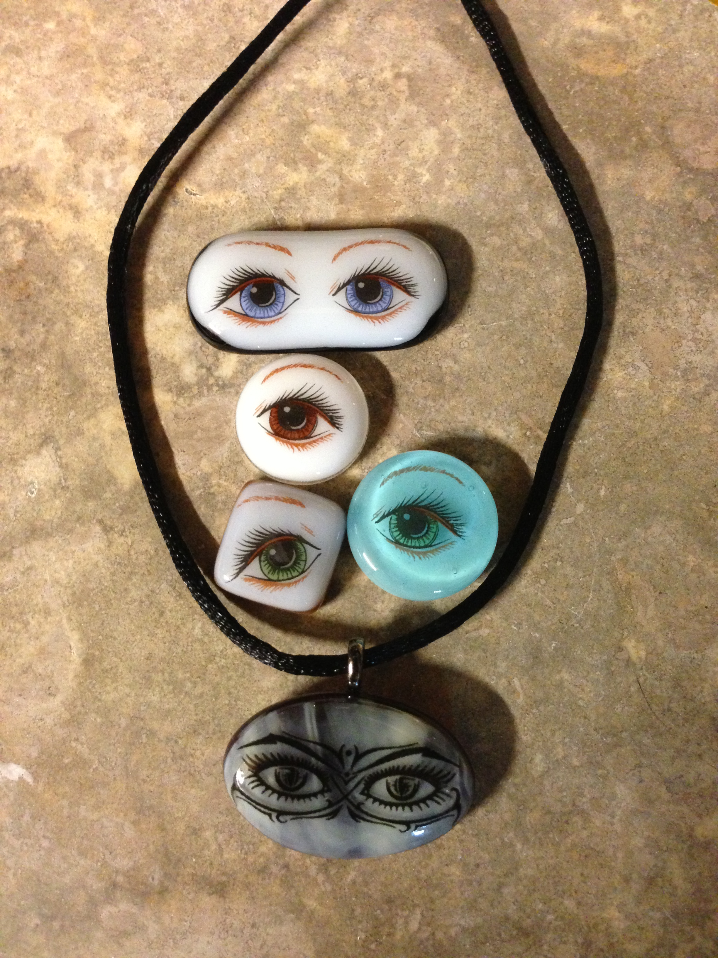 July - Fused Glass Eye Awareness