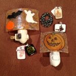 Fused Glass Halloween artwork