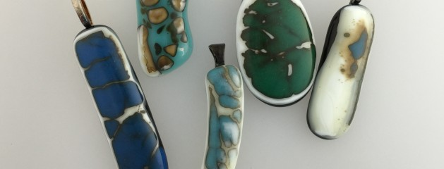 December's Fused Glass birthstone – Turquoise