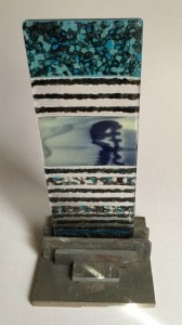 My Fused Glass pebble tower