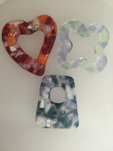 Fused Glass Casted Holey Pendants