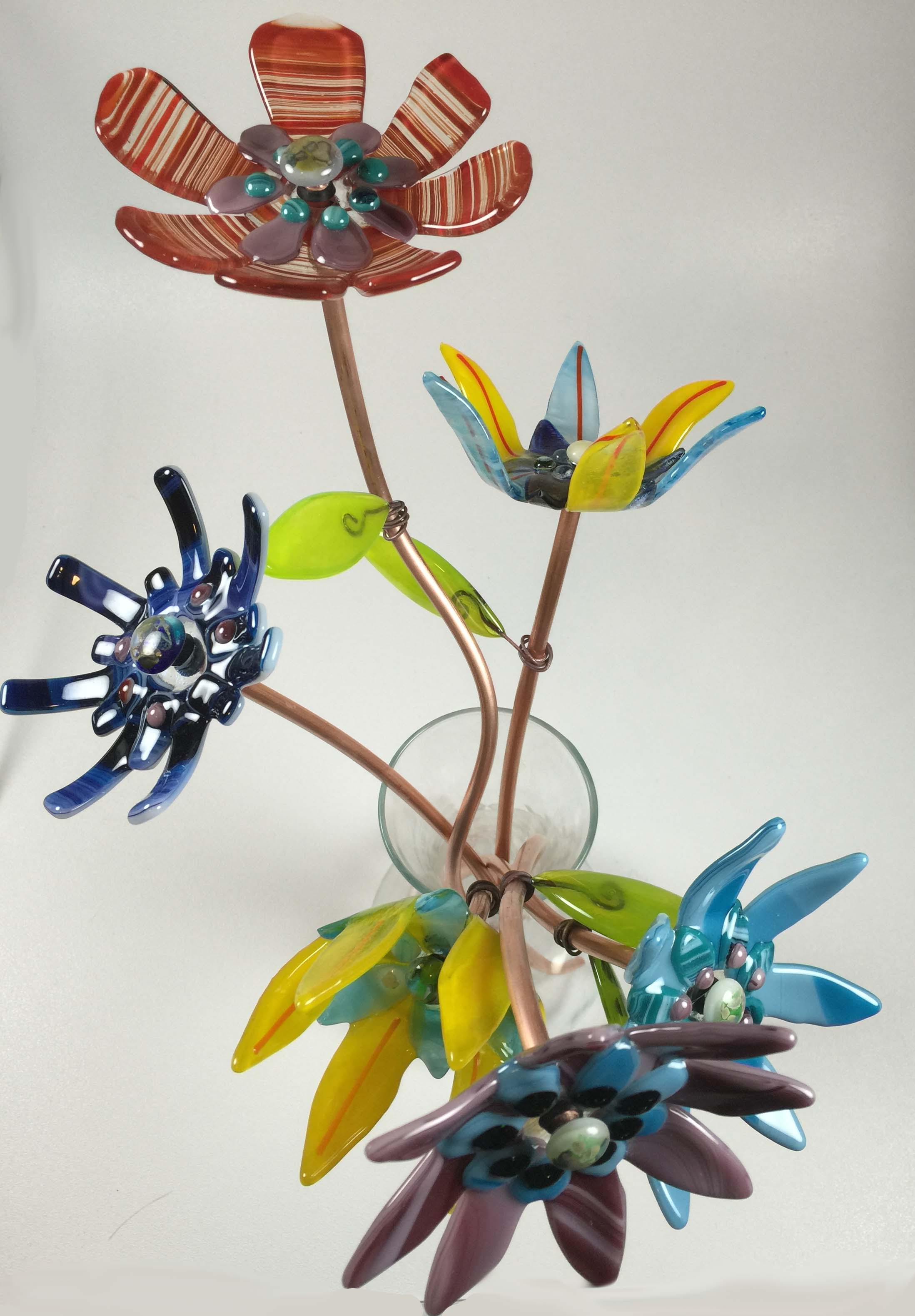 May Fused Glass Flowers
