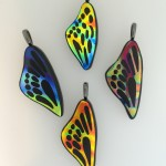 Fused Glass Butterfly wing pendants