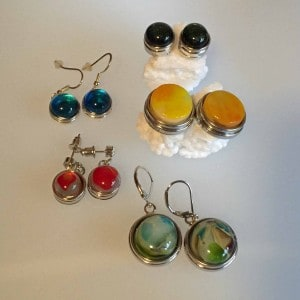 Fused Glass earrings - snap