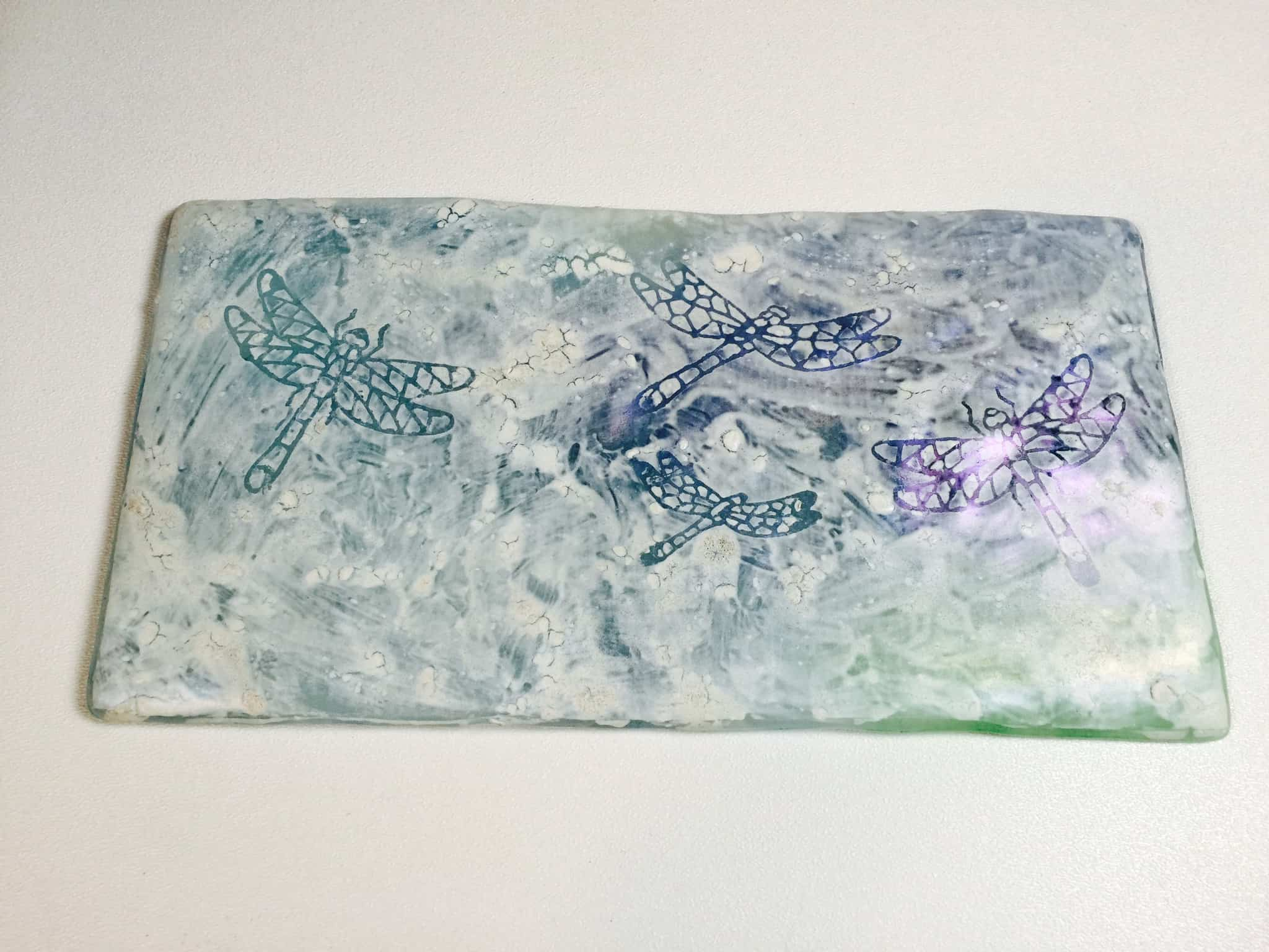 Fused Glass Mud experiment
