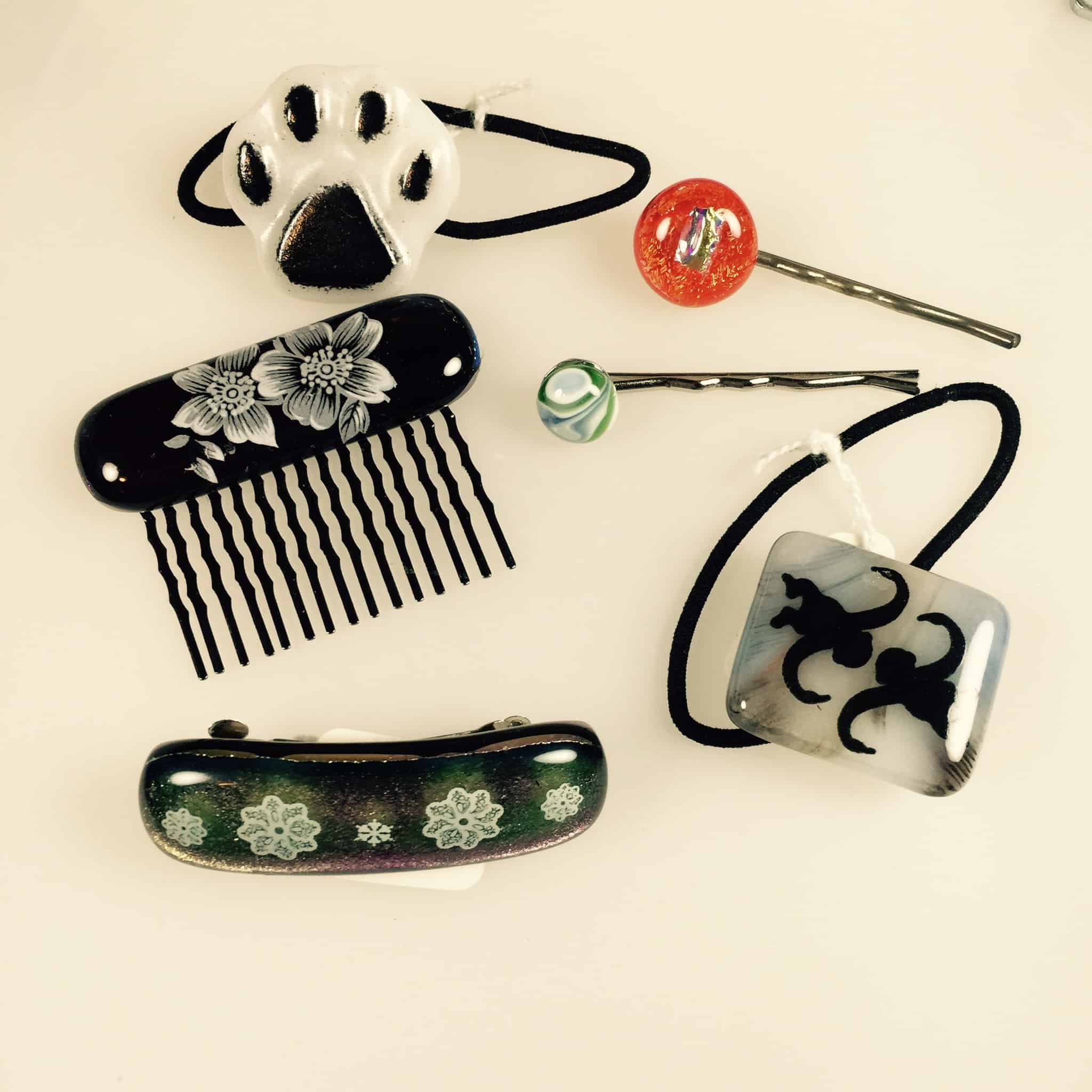Fused Glass hair accessory