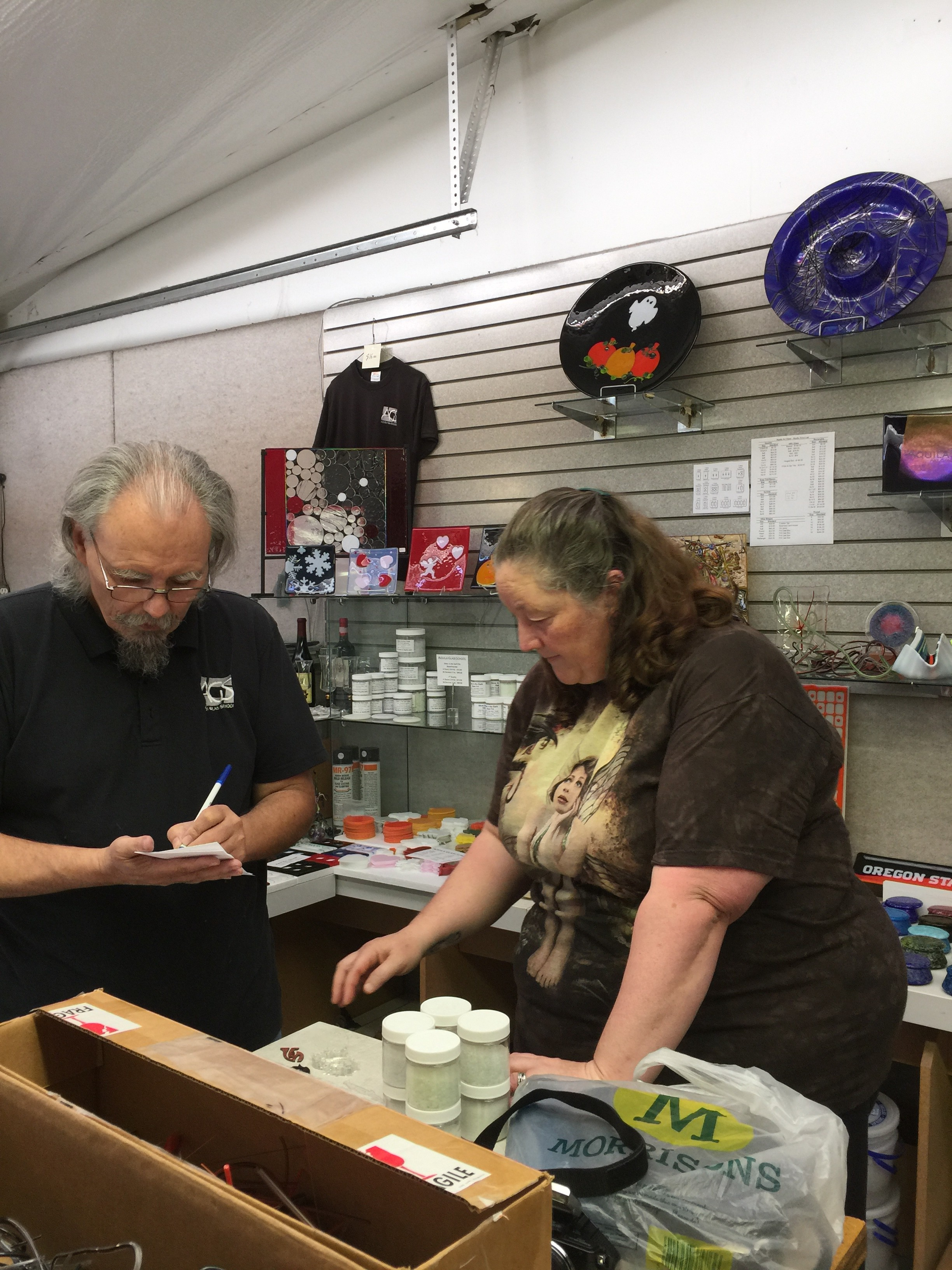 My visit with Aquila Art Glass Studio and my first Borosilicate flameworking