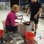 My Glass blowing class
