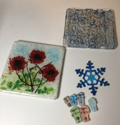 Happy Thanksgiving - More Fused glass from class