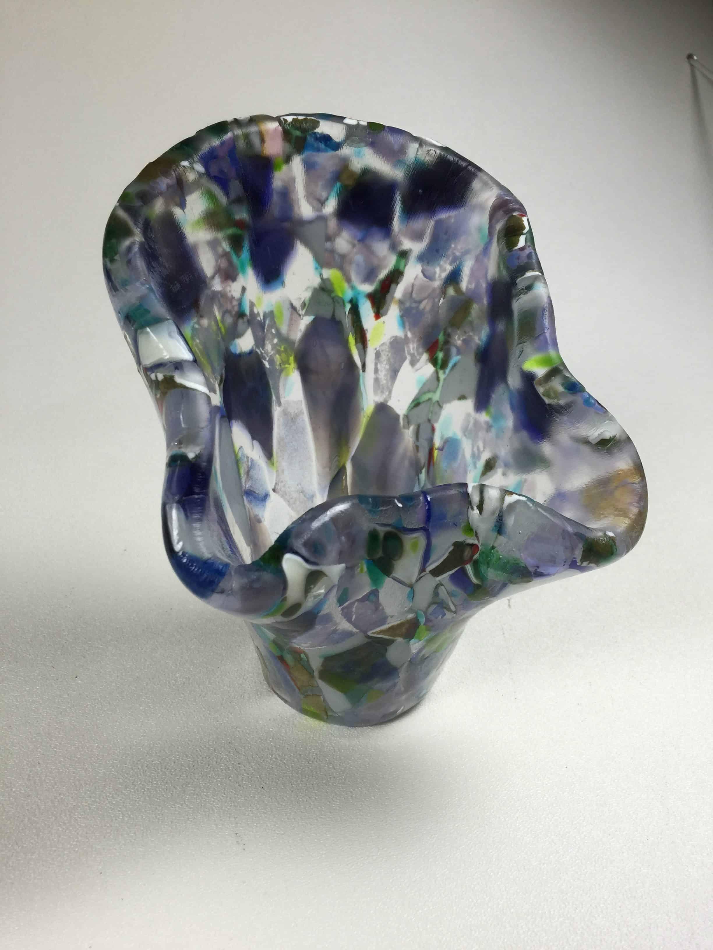 Fused Glass Vases Elegant Fused Glass By Karen