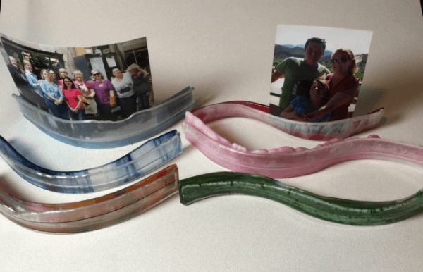 Fused Glass Photo Stand