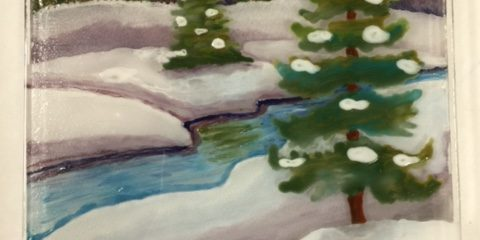 My Painting on Glass Class with Shelley Long
