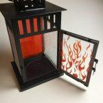 Fused Glass Lantern – 4 panel