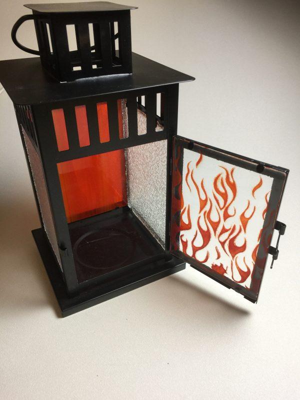 Fused Glass Lantern - 4 panel