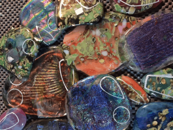 Fused Glass Ingots for Jewelry
