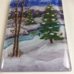 My Thick Scenic Fused Glass Painting
