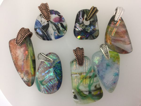 Drilling Fused glass pendants