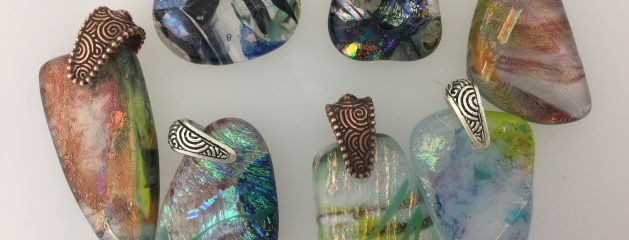 Drilling Fused glass pendants