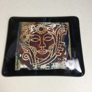 Fused Glass Lithograph – Tanya / AAE Glass