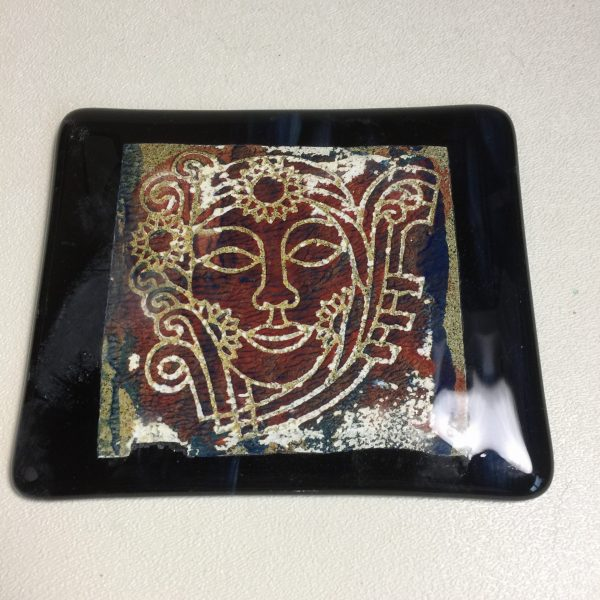 Fused Glass Lithograph - Tanya / AAE Glass