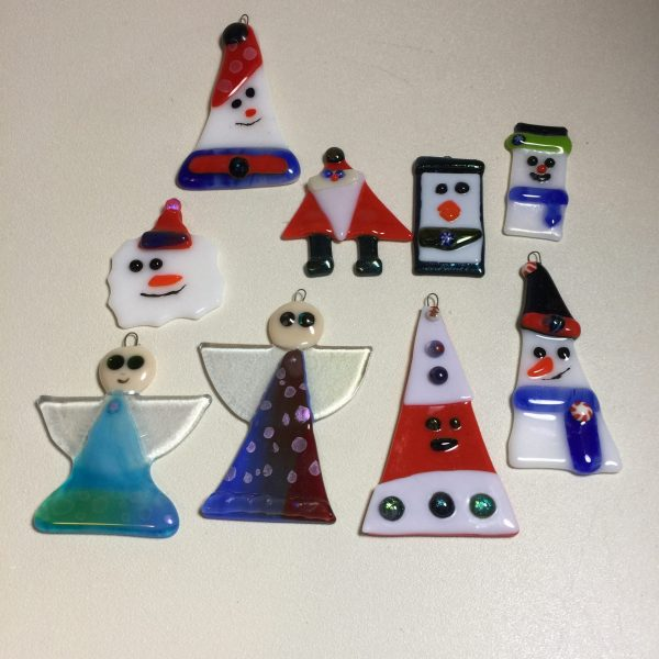 Fused Glass Christmas in July