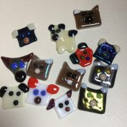 Christmas in July – fused glass Dogs and Cats
