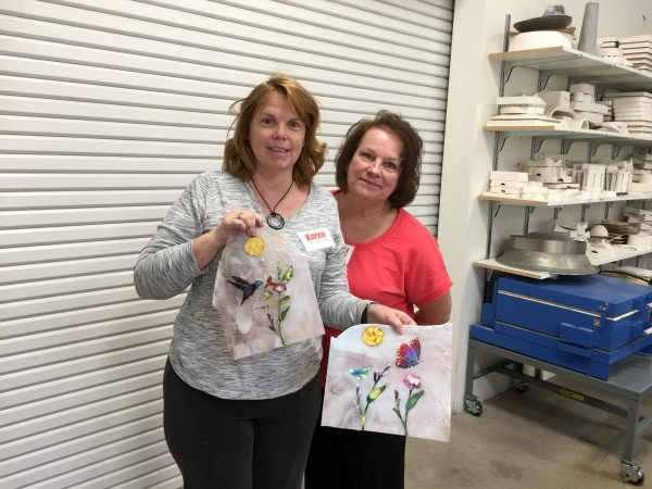 Alcohol Ink on Glass Class with Cathy Claycomb
