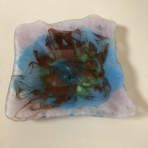 Change of plans for Fused Glass piece