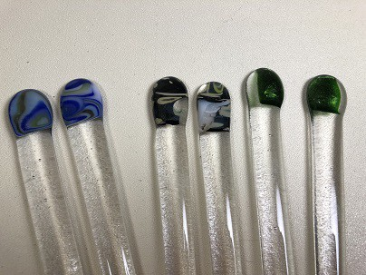 More fused glass stirrers