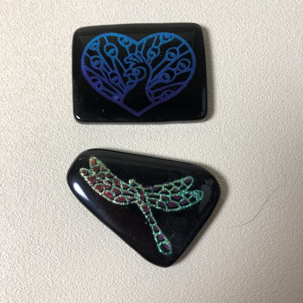 Dichroic Etched Fused Glass