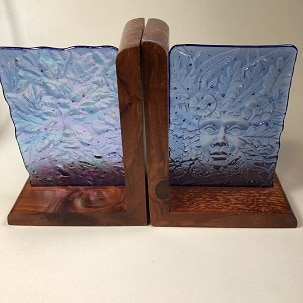 Fused Glass Bookends